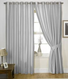 Make Your Room Look Classy and Expensive With Silver Curtains Silver Curtains, Bed Cushions, Window Dressings, Window Curtains, Cushion Covers, Drapery, Home Improvement, Classy, Make It Yourself
