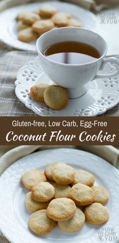 Easy to make no egg cookies made low carb and gluten free. These coconut flour cookies are a simple treat that take little time to prepare. #lowcarbcookies #ketocookies #coconutflour | LowCarbYum.com via @lowcarbyum