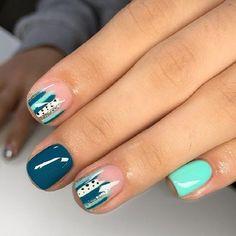 Get Nails, Love Nails, How To Do Nails, Pretty Nails, Hair And Nails, Nagellack Design, Shellac Nails, Shellac Nail Designs, Minimalist Nails