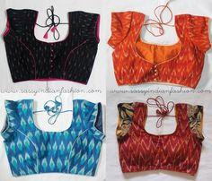 Ikat Print Blouse Designs, Ikat Blouses for Sarees, Ikat Blouses Online, Where to Buy Ikat Blouses.