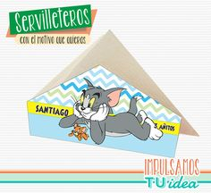 Cumple tom y jerry - Servilletero tom y jerry para imprimir