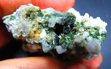 194.05CT Green Diopside Crystal With Feldspar Specimen Minerals...