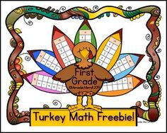 by Mercedes Merrell 1st Grade This Turkey Math FREEBIE is a great center or whole class activity to get the students in the holiday ...