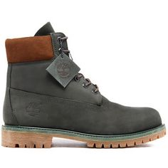 90c57b795e62 Timberland Men s 6 Inch Premium Boots - Dark Urban Chic Waterbuck NB Mens  Grey Boots