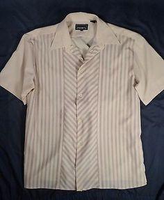Pronti Collection by Phita Mens Shirt Club Dress Size XL Short Sleeve #loveit http://bayfeeds.com/ebayitem.php?itemid=231571642740
