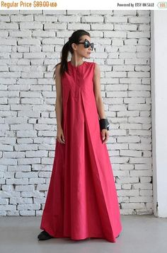 OFF Pink Maxi Dress / Loose Long Dress / Casual Daywear Dress / Plus Size Summer Dress / Elegant Pink Dress /Pink Occasion Dress by META by Metamorphoza Plus Size Summer Dresses, Dress Plus Size, Trendy Dresses, Elegant Dresses, Casual Dresses, Fashion Dresses, Short Dresses, Ankara Fashion, Formal Dresses