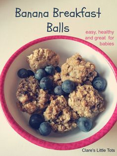 Banana Breakfast balls, yummy and healthy breakfast idea perfect for babies and toddlers and great snack for baby led weaning. Banana Breakfast balls, yummy and healthy breakfast idea perfect for babies and toddlers and great snack for baby led weaning. Baby Led Weaning Breakfast, Baby Breakfast, Banana Breakfast, Breakfast Porridge, Toddler Meals, Kids Meals, Toddler Food, Easy Toddler Snacks, Baby Meals