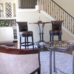 Wine Bar Replaces The Unused Formal Dining Room