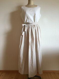 ギャザー巻きスカート クリーム