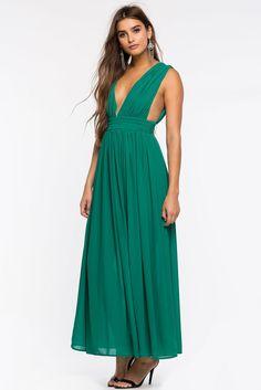 Pleat Works Maxi Dress