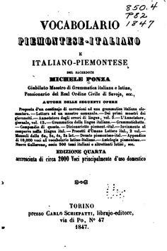 Vocabolario piemontese-italiano e italiano-piem...
