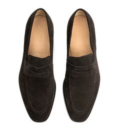 Abe Penny Loafer - Dark Brown Suede - Jack Erwin