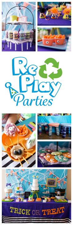 Re-Play's Halloween set is perfect for any Halloween party. This monster mash party @SocialPartyStudio  is full of creative ways to entertain your little's.  #halloweenparty