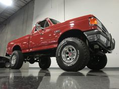 Growing up in the trucks like this 1987 Ford were super popular, but not many folks took care of them. Old Ford Trucks, Lifted Chevy Trucks, Ford 4x4, Hot Rod Trucks, Cool Trucks, Pickup Trucks, Ford F150 Lariat, Ford F Series, Black Wheels