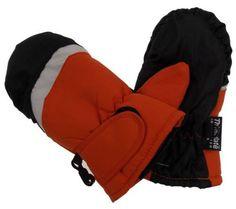 Wonderkids Toddler Orange Winter Mittens 3M Thinsulate Lined One Size Snow NEW