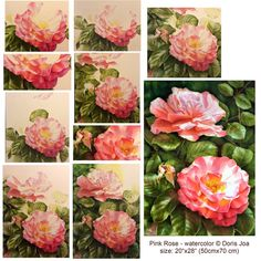 How to paint a rose - how to paint roses in a three dimensional and realistic style? Learn where to start and when to finish your painting.