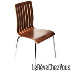 Chaise Design STEF Noyer