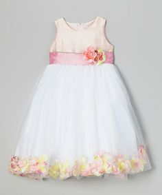 Look at this #zulilyfind! Pink Flower Petal Dress - Toddler & Girls by Sophia Young #zulilyfinds