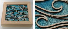 """Sea Legs"" Art Show by Ashley Forrette (Portland photographer) and Jolby Laser Laser, Cool Laser, Laser Cut Box, Laser Cut Panels, Laser Cutting, Laser Cutter Ideas, Laser Cutter Projects, Laser Cut Patterns, Wood Patterns"