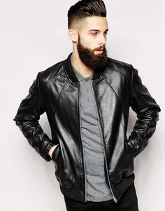 ASOS Leather Bomber Jacket $179