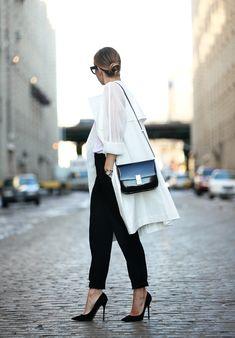 Urban Essentials via BrooklynBlonde.com / @Helena Glazer Trench: DKNY c/o | Pants: DKNY c/o | Bag: Celine | Shoes: Jimmy Choo Friday, March 13, 2015