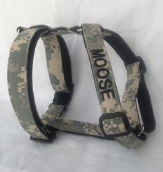 Military dog harness embroidered w/dogs by chiwawagearharnesses