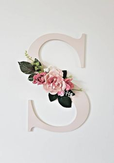 Floral wall initial floral wall letter custom nursery decor girls bedroom floral decor Boho decor bohemian style wedding decor flower home decor Initial Decor, Initial Wall, Letter Wall Decor, Wall Initials, Initial Crafts, Paper Flower Wall, Flower Wall Decor, Diy Wall Decor, Paper Flowers