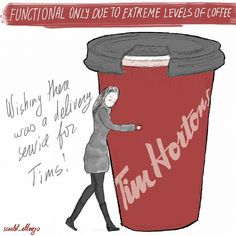 by Scarlet_alterego for of red and other colors https://ofredandothercolors.wordpress.com/ Character design, webcomic, cartoon, girl character, self, diary comic strip, cartoon, funny, illustration, ofredandothercolors, scarlet_alterego, of red and other colors, coffee, tim hortons, coffeelove