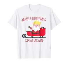 b0dd0df944 Amazon.com: Trump Christmas Shirt, Make Christmas Great Again: Clothing