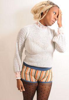 KOOKY 1970's Stripy Hot Pants Gym Shorts - lovethebaroness vintage Vintage Outfits, Vintage Fashion, Gym Shorts, South London, Fashion Videos, Hot Pants, Vintage 70s, Turtle Neck, Unisex