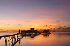 Just another gorgeous sunset behind Kamoka's Tahitian Pearl Farm.  http://www.facebook.com/Leathered.Pearls