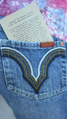 Where did these jeans travel? Click here to read the story of 7 For All Mankind Jeans Low Rise Signature Pocket Designer Jeans $30.00