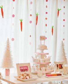 Snow bunny inspired holiday party. Jenn Sbranti of HWTM.