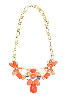 Floral Crystal Statement Necklace - uoionline.com: Women's Clothing Boutique