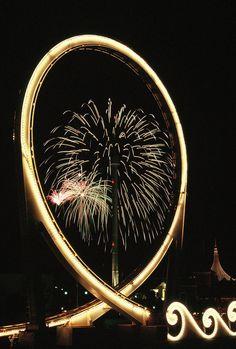 Tidal Wave #rollercoaster #night #fireworks