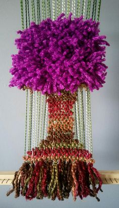 Árbol en telar Tola, Textiles, Plant Hanger, Fiber Art, Hand Embroidery, Dream Catcher, Macrame, Glass Vase, Weaving