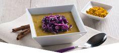 Crema di lenticchie al curry e cavolo rosso