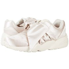 PUMA Bow Sneaker Fenty by Rihanna (Pink Tint/Pink Tint/Pink Tint)... ($160) ❤ liked on Polyvore featuring shoes, sneakers, slip on trainers, cushioned shoes, breathable sneakers, slip-on sneakers and puma trainers