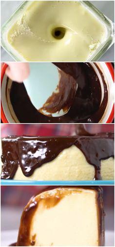 Pudim de Leite Ninho com Nutella IRRESISTÍVEL!  #pudim #nutella #ninho #sobremesa #receita #gastronomia #culinaria #comida #delicia #receitafacil