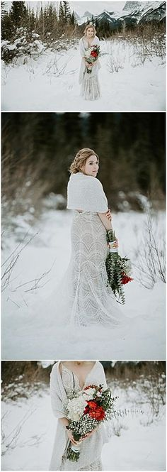 Winter bride style Winter wedding in Canmore. Boho Bride, Wedding Bride, Fall Wedding, Our Wedding, Wedding Dresses, Wedding Ideas, Winter Mountain Wedding, Winter Bride, Mountain Weddings