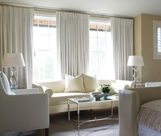 Photo Gallery: Great Drapes & Blinds | House & Home - creamy curtains for master