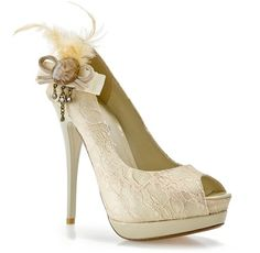 Bridesmaid shoes??... love the color and the lace