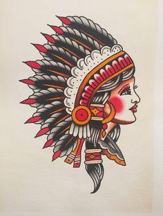 Best Tattoo Old School Gun Sailor Jerry 20 Ideas Traditional Tattoo Woman, Traditional Tattoo Old School, Traditional Tattoo Flash, Tatto Old, 4 Tattoo, Indian Chief Tattoo, Tattoos 3d, Hand Tattoos, Traditional Tattoo Inspiration