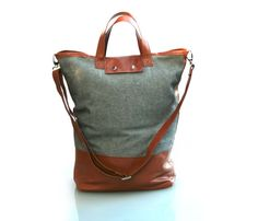 wool + leather carryall.