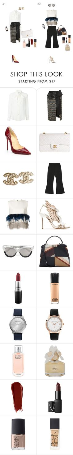 """Chic"" by maries on Polyvore featuring Moschino, Alexander McQueen, Christian Louboutin, Chanel, Victoria, Victoria Beckham, Dsquared2, Sophia Webster, Linda Farrow, Fendi and MAC Cosmetics"