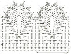 caminhos de mesa com graficos-croche - Pesquisa Google
