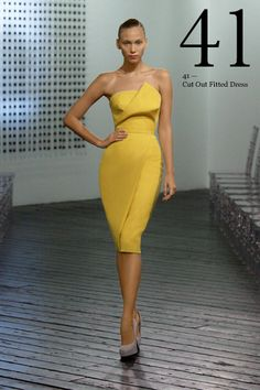 The official Victoria Beckham website. Shop the Victoria Beckham Ready to Wear collection. Clothing from Victoria Victoria Beckham, Denim, Accessories and Eyewear. Yellow Fashion, Love Fashion, High Fashion, Womens Fashion, Fashion Styles, Fashion Design, Haute Couture Style, Looks Chic, Mode Inspiration