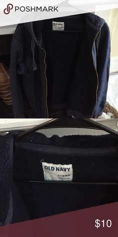 Mens Old navy sweat jacket  with fleece insulated Old navy fleece full zip sweat jacket Old Navy Jackets & Coats