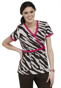 Koi Kathryn Wildside mock-wrap scrub top. Can't wait to be a nurse and pick out cute scrobs