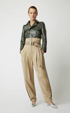 Metallic Glossed Leather Slingback Pumps by Givenchy Work Fashion, Fashion 2020, Fashion Outfits, Womens Fashion, Low Crotch Pants, Oversized Dress, Work Attire, Modest Dresses, Leather Fashion